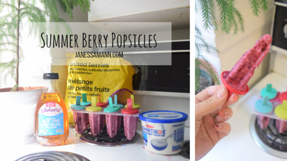 Summer Berry Popsicles - JanessaMann.Com